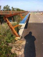 Aanpassing RVS leuning fietsbrug A4-1